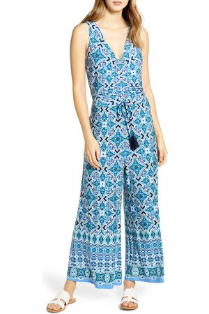 Tommy Bahama Women's Nassau Tile Print Sleeveless Jumpsuit