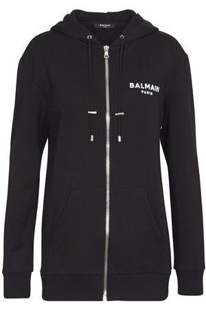 Balmain Logo zipped hoodie