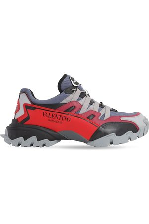 """VALENTINO """"climbers"""" Mesh & Leather Sneakers"""