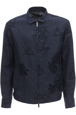 Armani Embroidered Linen Jacket