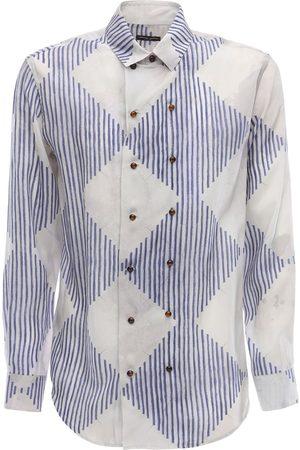 Armani Rombo Print Cupro Shirt