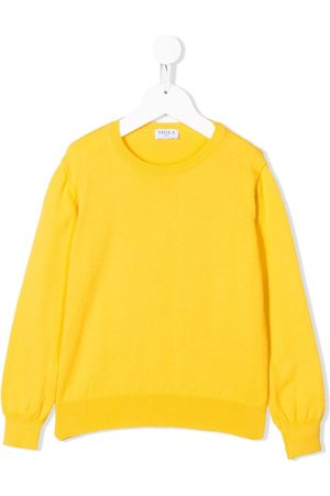 SIOLA Boys Sweaters - Ribbed detail crew neck jumper