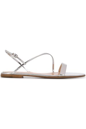 Gianvito Rossi Manhattan metallic flat sandals