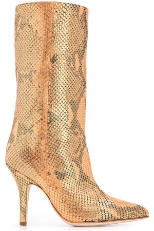 PARIS TEXAS Snakeskin effect tall boots