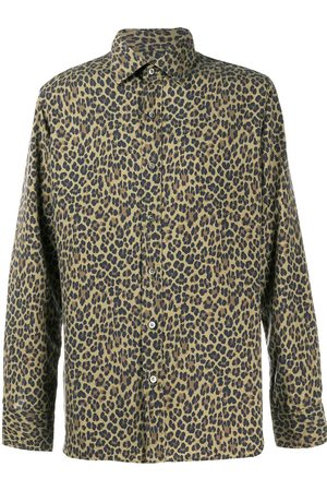 Tom Ford Leopard-print silk shirt