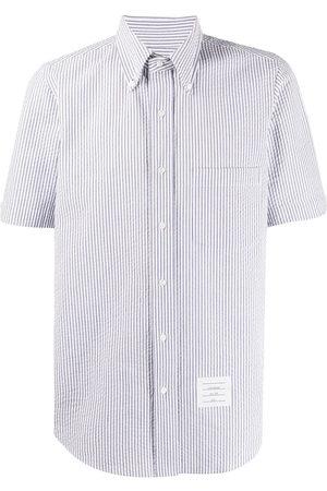 Thom Browne Short-sleeved seersucker shirt