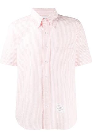 Thom Browne Striped short-sleeved seersucker shirt