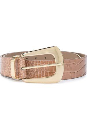 adidas Embossed croc-effect belt - Neutrals