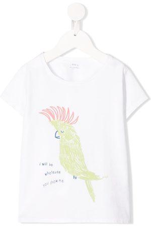 KNOT Girls Short Sleeve - Parrot graphic short sleeve T-shirt