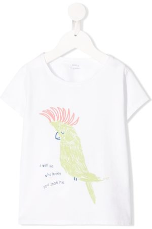KNOT Parrot graphic short sleeve T-shirt