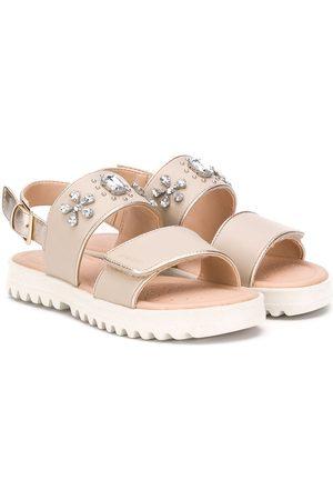 Geox Embellished ridged sole sandals - Neutrals