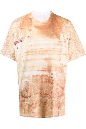 DOUBLET Tie-dye relaxed T-shirt - Neutrals