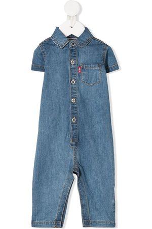 Levi's Kids Baby Rompers - Denim buttoned romper