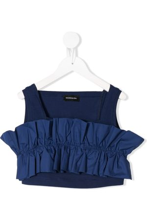 MONNALISA Ruffle-trimmed cropped top