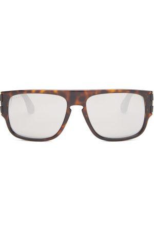 Gucci Men Square - Rectangular Tortoiseshell-acetate Sunglasses - Mens