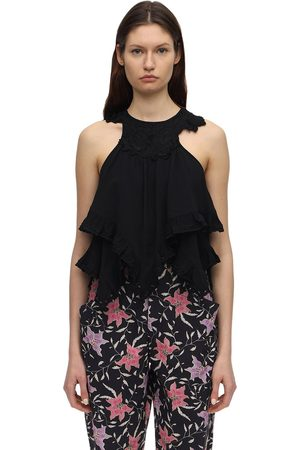 Isabel Marant Lupita Embellished Viscose Top