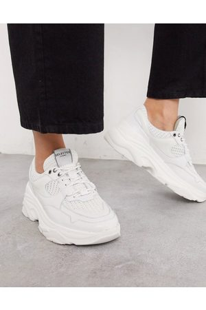 Selected Sneakers - Femme chunky leather sneakers with sports mesh in