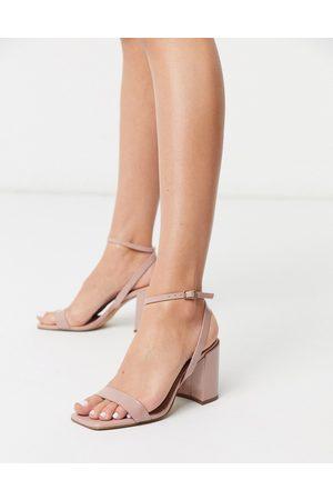ASOS Women Sandals - Havana barely there block heeled sandals in patent
