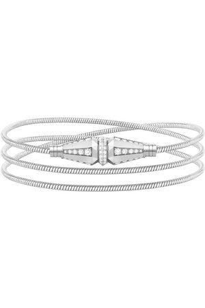 Boucheron 18kt white gold Jack de triple wrap diamond bracelet - WG
