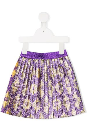 Gucci Baby Skirts - Metallic pleated skirt