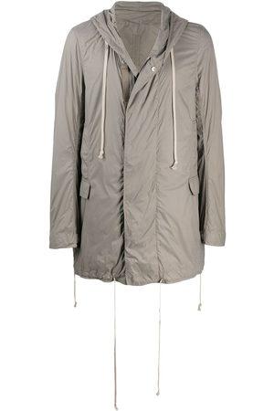 Rick Owens Hooded midi raincoat - Grey
