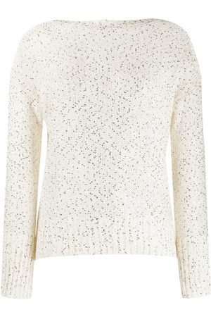 SNOBBY SHEEP Sequin embroidered sweater - Neutrals