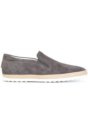Tod's Men Flat Shoes - Slip-on sneakers - Grey