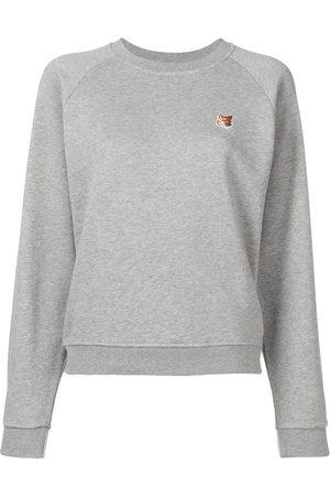 Maison Kitsuné Fox patch sweatshirt - Grey