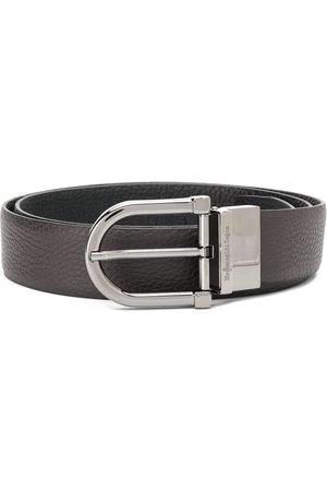 Ermenegildo Zegna Men Belts - Logo-buckle classic belt