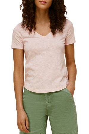 Whistles Sophie V-Neck Cotton Tee
