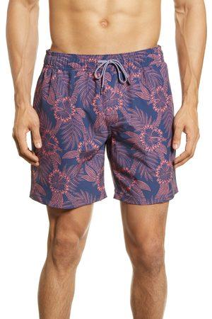 Reyn Spooner Men Swim Shorts - Men's Diamond Lei Swim Trunks