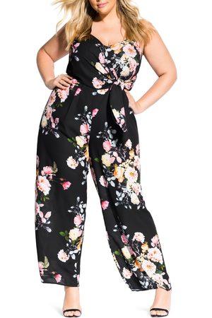 City Chic Plus Size Women's Tuscan Sleeveless Tie Waist Jumpsuit