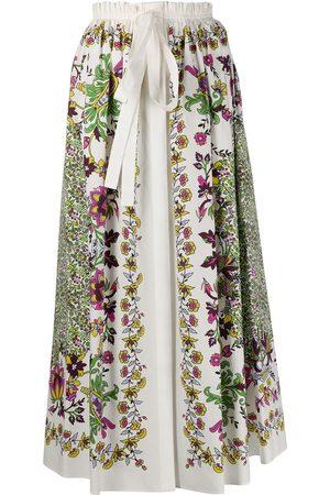 Givenchy Floral print midi skirt