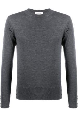 Thom Browne RWB stripe jumper - Grey