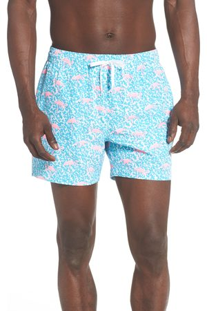 Chubbies Men's Domingos Are For Flamingos Print Swim Trunks