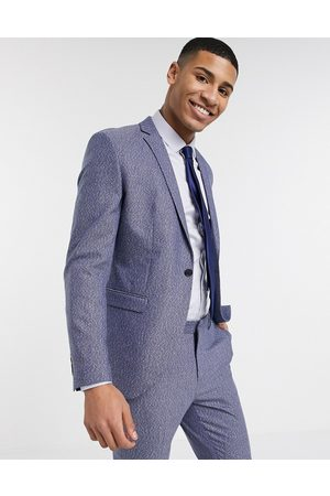 Selected Skinny fit stretch suit jacket in fleck