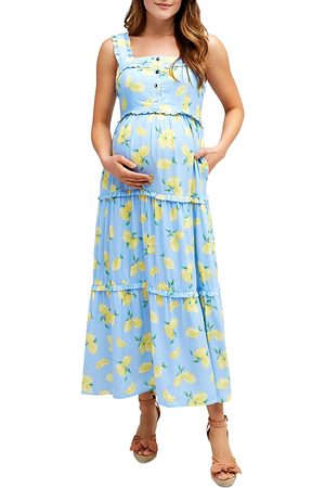 Nom Maternity Emma Tiered Floral During & After Dress