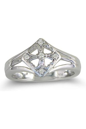SuperJeweler .04 Carat Right Hand Diamond Ring in Sterling