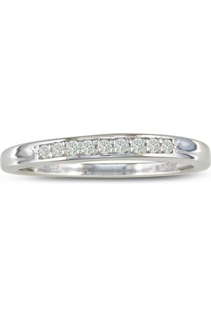 SuperJeweler 1/8 Carat Men's & Women's Diamond Wedding Band in Sterling