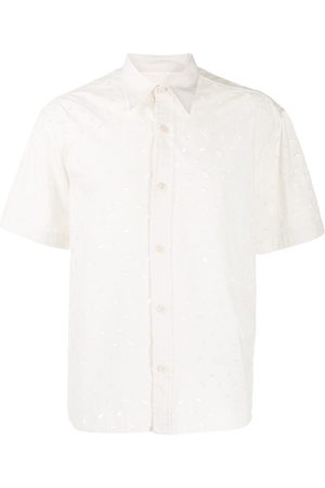 Ami Embroidered short-sleeve shirt - Neutrals