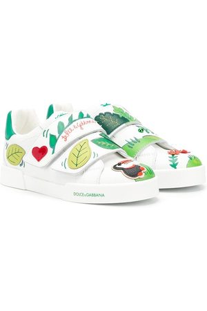 Dolce & Gabbana Tropical motif sneakers