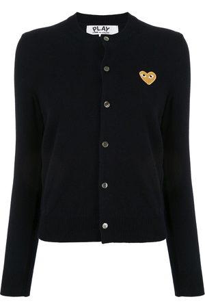 Comme des Garçons Embroidered heart patch cardigan