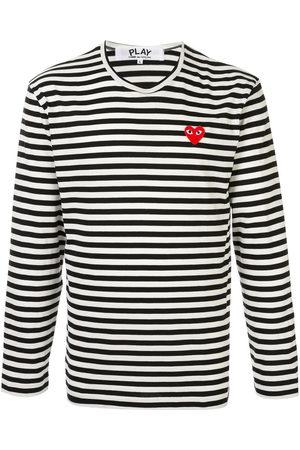 Comme Des Garçons Play Embroidered logo T-shirt