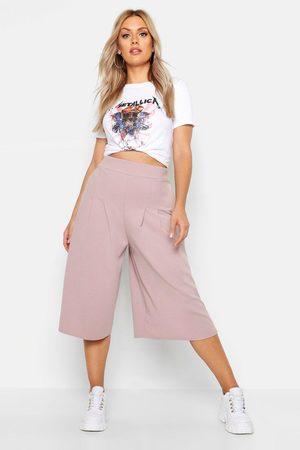 Boohoo Womens Plus Wide Leg Culottes - - 12
