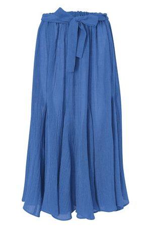Lisa Marie Fernandez Women Maxi Skirts - Marguerite linen maxi skirt