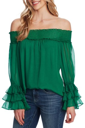 CE&CE Women's Off The Shoulder Ruffle Cuff Blouse