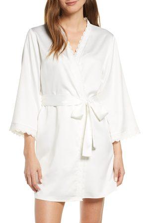 Flora Nikrooz Women's Victoria Short Satin Robe
