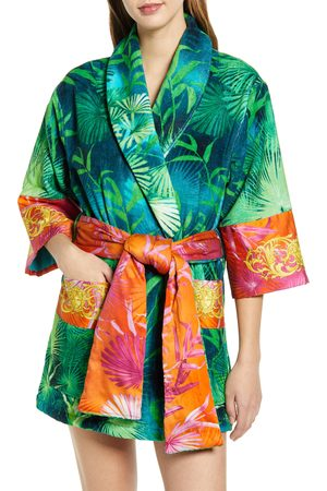 VERSACE Jungle Print Short Robe