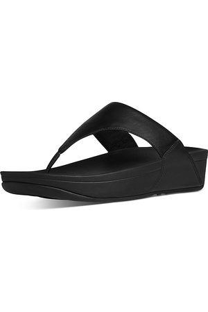 FitFlop Women Wedges - Women's Lulu Slip On Thong Wedge Sandals