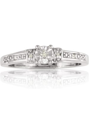 SuperJeweler Diamond Promise Engagement Ring in Sterling
